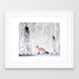 FOX FOX FOX Framed Art Print