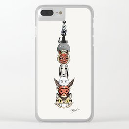 Totoro's neighbors from Spirited Away, Princess Mononoke and Kiki's Delivery Service Clear iPhone Case