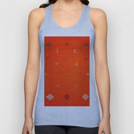 N6 | Vintage Orange Anthropologie Moroccan Artwork. Unisex Tank Top