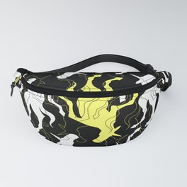 Psychedelic Yellow Unicorn Fanny Pack