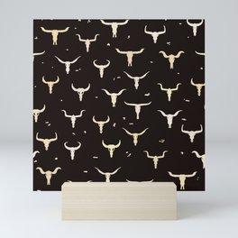 Cow Skulls Western Seamless Pattern Mini Art Print
