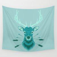 elk Wall Tapestries featuring Elk Head by Eyes Wide Awake