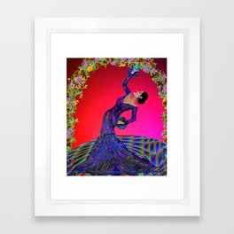 flamenco bend Framed Art Print