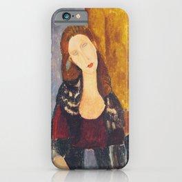 Jeanne Hebuterne woman portrait by Amedeo Modigliani iPhone Case