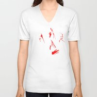 bohemian V-neck T-shirts featuring Bohemian Revenge by Jango Snow