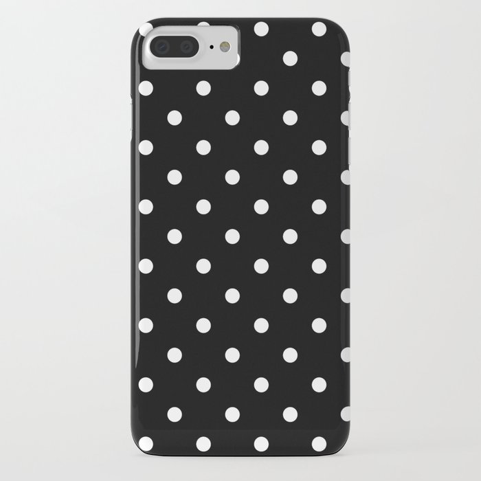 Black & White Polka Dots iPhone Case