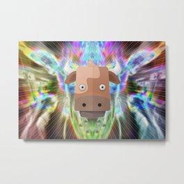 Cow's Aweken Metal Print