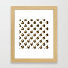Bee Polka Dot Framed Art Print