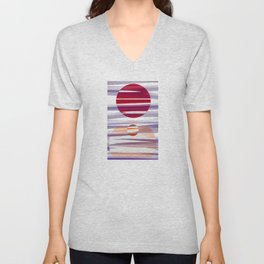 Abstract transparencies Unisex V-Neck