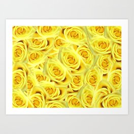 Candlelight Roses Art Print