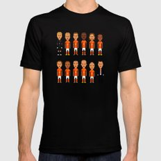Netherlands - World Cup 2014 Mens Fitted Tee MEDIUM Black