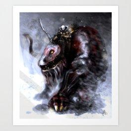 Demon Raider Art Print