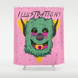 Sick Puppy Shower Curtain