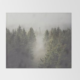 My misty way - Landscape and Nature Photography Throw Blanket