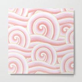 Pink Auspicious Waves Metal Print