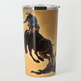 Bucking Bronco Travel Mug