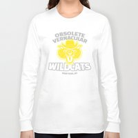tenenbaums Long Sleeve T-shirts featuring Obsolete Vernacular Wildcats (Royal Tenenbaums) by Tabner's