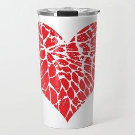 Shattered Heart Travel Mug