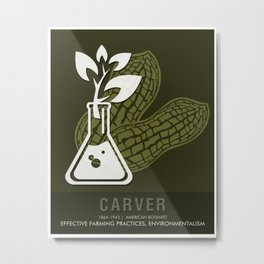 Science Posters - George Washington Carver - Botanist Metal Print