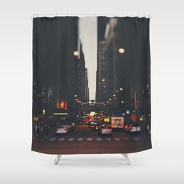 sunset in the city ... Shower Curtain