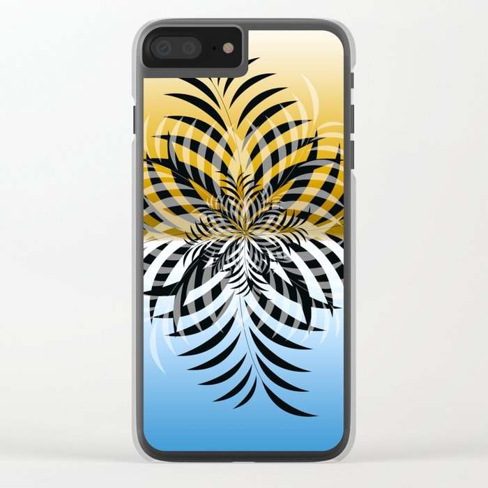 color leaf 1 Clear iPhone Case