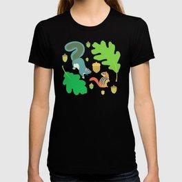 Gray Squirrel + Chipmunk + White Oak T-shirt