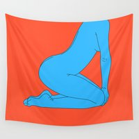 body Wall Tapestries featuring Body Language by Tyler Spangler
