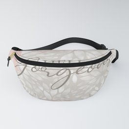 Hello Gorgeous, Floral Chic Pattern, Pink and Gray Fanny Pack