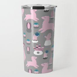 Alpaca fun grey Travel Mug