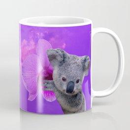 Koala and Orchid Coffee Mug