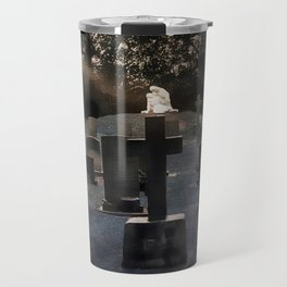 Gravestones and statue Travel Mug