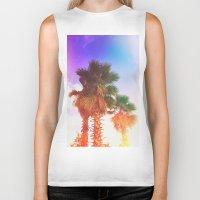 palms Biker Tanks featuring Palms by Neon Wildlife