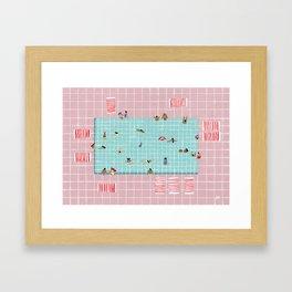 Pink Tiles Framed Art Print