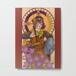 Chronos IV Nouveau Metal Print