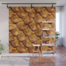 3d abstract snake skin, reptile scale Wall Mural
