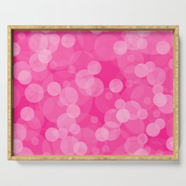 Pink Bubbles 4 Serving Tray