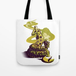 SnakeWoman and Demon-Skull Bong Tote Bag