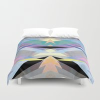origami Duvet Covers featuring Origami by Marta Olga Klara
