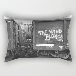 The Wind Blows Rectangular Pillow