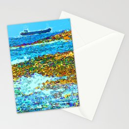 Coastal View Stationery Cards