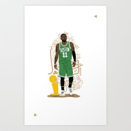 Irving X Celtics   Illustration Art Print