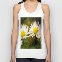 daisies Tank Tops featuring Daisies by LoRo  Art & Pictures