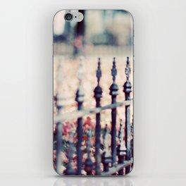 Autumn Fence iPhone Skin