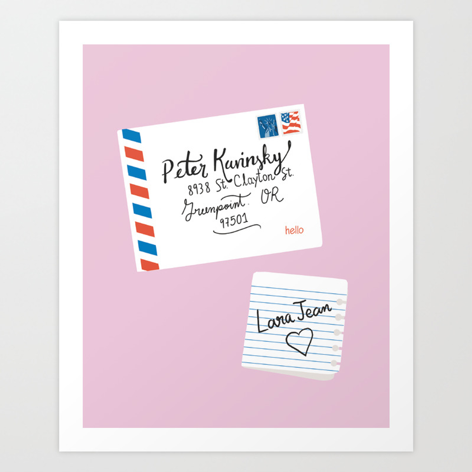 To All The Boys I Ve Loved Before Peter Kavinsky And Lara Jean Letter Art Print By Catalinawilliams Society6