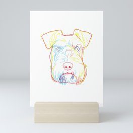 Colourful Schnauzer Dog Mini Art Print