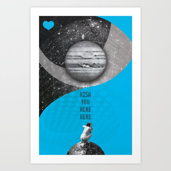 Wish you were here (Rocking Love series) Art Print