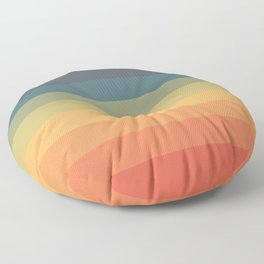 Colorful Retro Striped Rainbow Floor Pillow