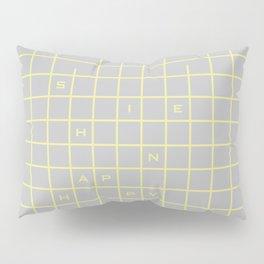 happy yellow graph Pillow Sham