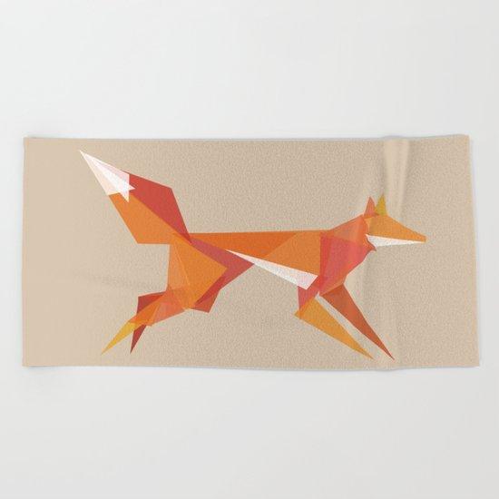 Fractal geometric fox Beach Towel