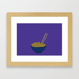 Noodle Bowl Framed Art Print